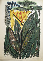 Flora Fong #344. Untitled,1985. Serigraph print edition 63/125. 27.5 x 20 inches.