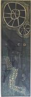 "Miguel Lobaina #397. ""El acrobata,"" N.D. Lithograph print editon 12/15.   32 x 15 inches"