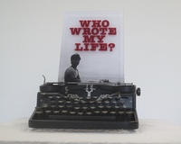 "Ernesto Javier Fernandez, ""Who Wrote My Life,"" 2013. Mixed media w vintage typewriter. 5/5.  15 x 10 x 10 Inches. SOLD!"