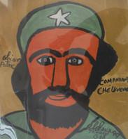 """Abel Perez-Mainegra #1849. """"Comandante Che Guavera,"""" 1999. Gouache on paper. 14.5 x 12 inches."""