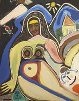"Wayacon (Julian Espinosa Rebollido) #1901. ""Untitled, 1994. Acrylic on board. 35.5 x 27.25 inches."