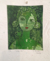 "Sandra Dooley #8068  ""Cafecito,"" 2014. Collograph, artist proof. 10 x 7.5 inches"