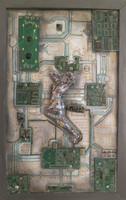 Brito (Jacqueline Brito Jorge) #3810. Modelo XY, 2004. Mixed media/canvas. 19  X 12 Inches. SOLD!