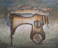Martha Jimenez #5315 (SL) Untitled, 2010. Mixed media on paper. 11.5 x 13.25 inches.
