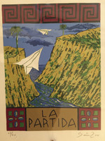 "Alejandro Sainz #3959. ""la patria,"" 2004. Serigraph print edition 11 of 20. 12.75 x 9.75 inches."
