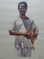 Franklin Alvarez #4020. Untitled, 2004. Watercolor on paper. 20.5 x 29.5 inches. SOLD!