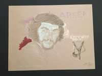 """William Perez  #4036. From Arsenal series: """"Che, Absolute arsenal,"""" 2005. Pencil and oil pastel on paper. 25 x 19.5 inches."""
