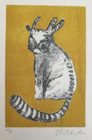 Elias Acosta #6395 (SL) Untitled, N.D. Etching print edition 4/5.  10. 7.5 inches.
