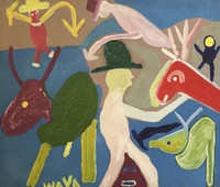 Wayacón (Julián Espinosa) #2327. Untitled, N.D. Acrylic on canvas. 14.25 x 17 inches