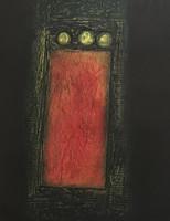 Choco (Eduardo Roca Salazar) #2378. Untitled, 2000. Collagraph print edition 7 of 20.  22 x 15 inches.