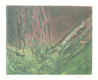 "Andy (Angel Rivero Sierra) #3426. ""Hojarasca,"" 2003. Collagraph print edition 8/12.  15.75 x 18 inches."