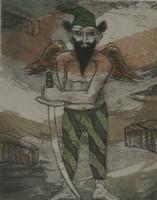 LeoneNorberto Marrero # 3430 (SL) Untitled, 2001. Chalcography print edition 3/30.  11.5 x 8.5 inches.