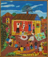 "Angel Llopiz #4632. ""Promesa,"" 2006. Oil on canvas, 16.5  x 14 inches"