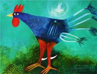 "Montebravo (José Garcia Montebravo) #4958. ""Gallipalmacea,"" 2009. Oil on canvas. 23.25 x 30.25 inches. SOLD!"