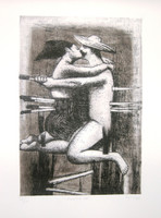 Bejarano (Agustin Bejarano) #4593. Untitled, 2004 Etching on paper 21 x 27 inches