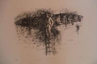 """Agustin Bejarano #4597. """"Imagenes en el tiempo,"""" N.D. Lithograph print. 15 x 22 inches."""