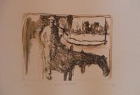 """Bejarano (Agustin Bejarano) #4602. """"La fuerza del heroe,"""" 2007. Lithograph print edition 3/4.  15 x 22 inches."""