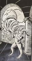"Sebastian Leal Vega #3574. ""IIamado,"" N.D. Xilograph print. 11.5 x 6 inches."