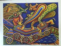 """Alfredo Sosabravo #3677A. """"Sueno infantil,"""" 2003. Serigraph print edition 2/100.   22.25 x 30 inches"""