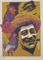 """Raúl Martínez #5485. """"El gallo fino,""""1998. Serigraph print edition 3/35. 27.5 x 20 inches."""