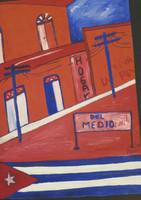 "Daniel Ator  #5654 (SL) ""Calle de Santiago de Cuba,"" 1998. Oil on heavy paper. 13 x 9 inches."