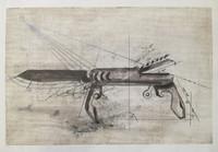 """Guillermo Duffay #5669 (SL) NFS> """"Diaspora,"""" N.D. Silkscreen with pencil. 13.5 x 20 inches"""