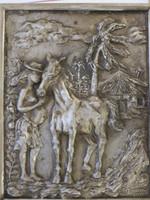 Alain Moreira #5712. Untitled, 2012. Cast metal aluminium.18 x 14 inches.