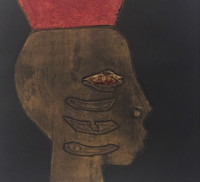 "Choco (Eduardo Roca Salazar) #6775. ""A Chango,"" 2013. Collagraph print, artist proof. 28 x 28 inches."