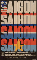 "Rene Mederos (OSPAAAL) ""Saigon / Week of solidarity with Viet Nam,""  1970. Offset"