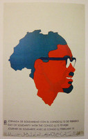 "Rostgaard (Alfrédo Gonzalez Rostgaard) (OSPAAAL) ""Day of solidarity with the Congo,""  1972. offset"