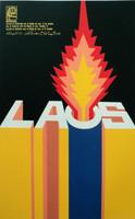 """Ernesto Padrón (OSPAAAL) """"Jornada de Solidaridad con el Pueblo de Laos,"""" 1970."""