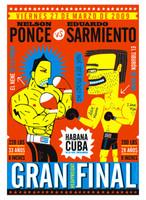 """Nelson Ponce, """"Gran Final,""""  2009. Silkscreen"""