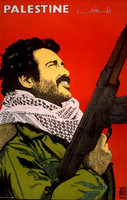 "Rafael Enriquez (OSPAAAL) ""Palestine,"" 1983. Offset, 30 x 20 Inches. Not Available!"