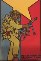 """Comite Cubano de solidaridad con Vietnam del sur. """"FNL de Vietnam del sur,"""" N.D. Offset 27.5 x 19 inches."""