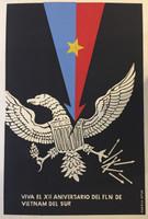 "COR PCC GTMO. ""Viva el XII aniversario del FLN de Vietnam del sur,"" N.D. Silkscreen. 30.25 x 20.25 inches."