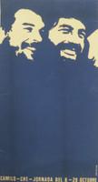 """COR PCC OTC. """"Camilo-Che-Jornada del 8-28 Octubre,"""" N.D. Silkscreen.29.5 x 16 inches."""