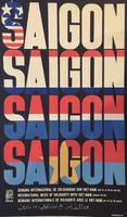 """René Mederos (Felix René Mederos Pazos) (OSPAAAL)  """"Saigon,"""" 1970. Offset. 21.5 x 12.75 inches"""