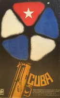 "Enrique Martínez (OSPAAAL) ""day of solidarity with  the Cuban revolution,"" N.D. Offset. 22 x 13.5 inches"