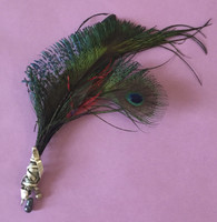 Osvaldo Castilla feather and sterling silver brooch #10