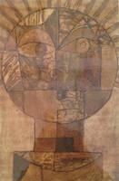 "Sandra Dooley #8070. ""El sol de Klee,"" 2014. Collagraph print edition 1/7. 14 x 19.5 inches.   SOLD!"
