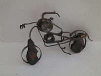 "Fidel Reina #8065. Untitled, ND. Copper metal sculpture, 5.5"" x 7 inches."