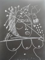Nicolas Lara #4257. Untitled, 2007. Chalk on paper. 12 x 9 Inches.
