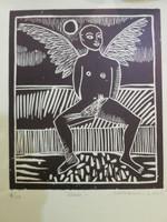 "Montebravo (José Garcia Montebravo) #4287. ""Alado,"" 2009. Monotype print edition 5 of 40.  12 x 9.5 inches."