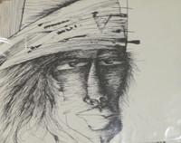 "Carlos Manuel Fernandez #222 (SL) ""Mambi 1,"" 1976. Ink on paper. 9.5 x 13 inches."