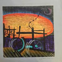 Jose Omar Torres #243. Untitled, 1977. Linoleum print. 16 x 16 inches.