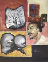 "Olympia Ortiz #2174. (SL) Untitled, 1998. Oil on canvas. 34"" x 25.5"""
