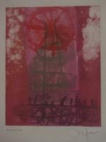 Nestor Vega #2404. Untitled, N.D. Monotype print. 10 x 7.5 inches.