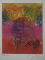Nestor Vega #2438. Untitled, N.D. Monotype. 9.75 x 7.5 inches. SOLD!
