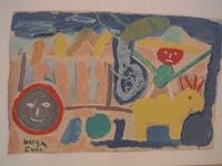 "Wayacón (Julián Espinosa) #2592a. ""Sabor Cubano,"" N.D. Oil on paper. 12 x 19 inches."