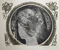 """Carballo (Oscar Carballo)  #465 (SL) """"Mujer,"""" 1980. Woodcut print. 20"""" x 20.5"""""""